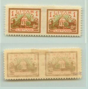 Lithuania-1923-SC-171-mint-missing-perforation-pair-f2644