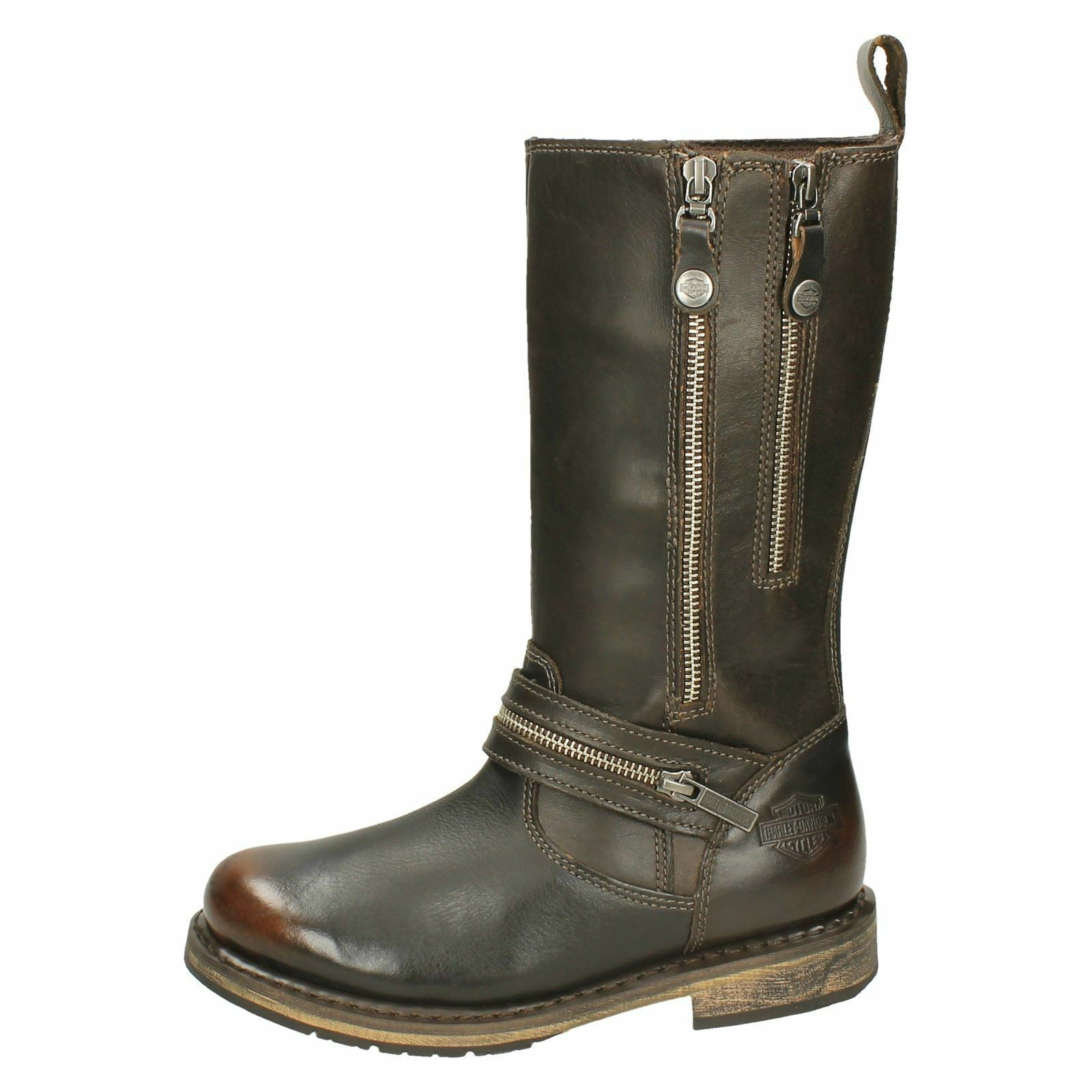 LADIES HARLEY- DAVIDSON BROWN LEATHER MID CALF CALF CALF BIKER Stiefel STYLE - SACKETT c90cad