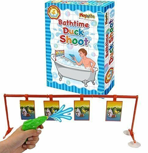 Playwrite Bathroom Duck Shoot Bath Toy Water Pistol & Target Game Zo Effectief Als Een Fee Doet