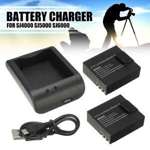 2x-900mAh-3-7V-Li-ion-Akku-USB-Kabel-Ladegeraet-fuer-SJ4000-SJ5000-SJ6000