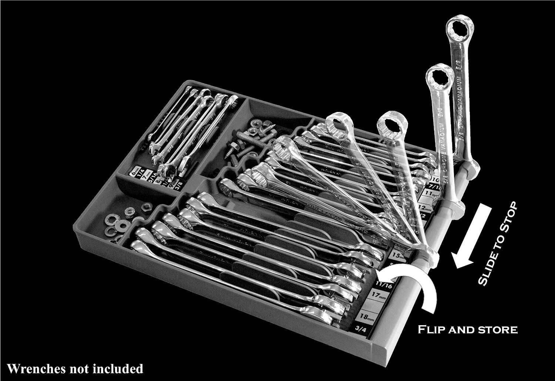 Tool Box Organizer Wrench Storage Black Chest Portable