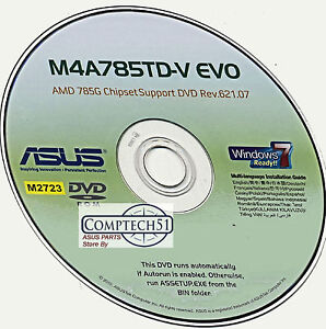 Asus M4A785TD-M EVO Afudos Drivers for Windows