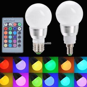 e27 e14 3w rgb led lampe licht beleuchtung farbwechsel gl hbirne fernbedienung ebay. Black Bedroom Furniture Sets. Home Design Ideas