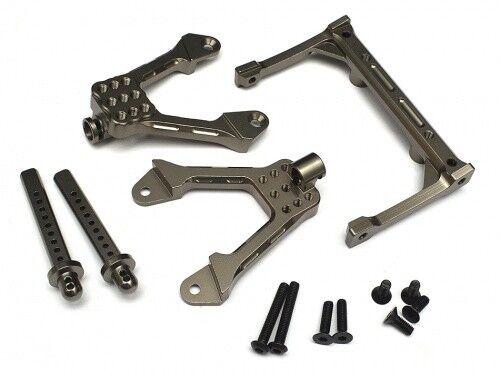 Samix Aluminum Rear Shock Plate Gun Metal Axial SCX10 RC Car 1:10 #SCX-6024-GM