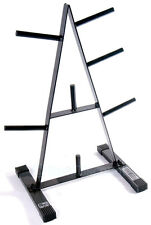 """CAP 1"""" Standard 500 lb. Weight Plate Rack Stand Tree Holder Storage A Frame"""