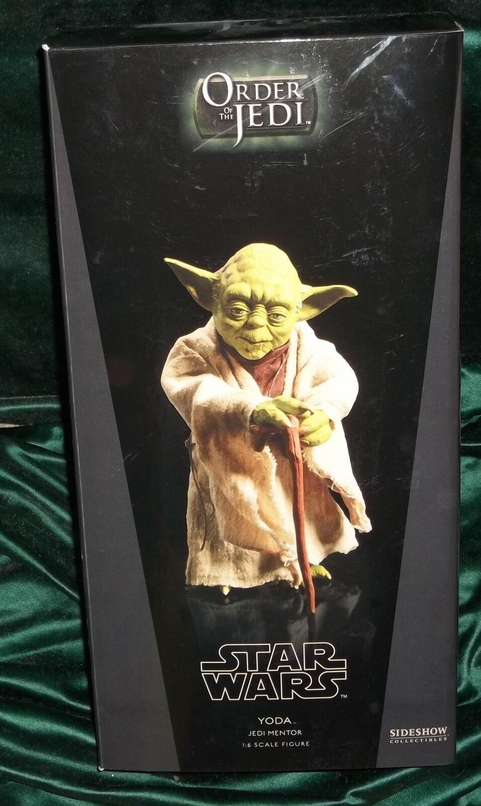 Star wars sideshow 12  1 6 scale jedi master yoda  figure