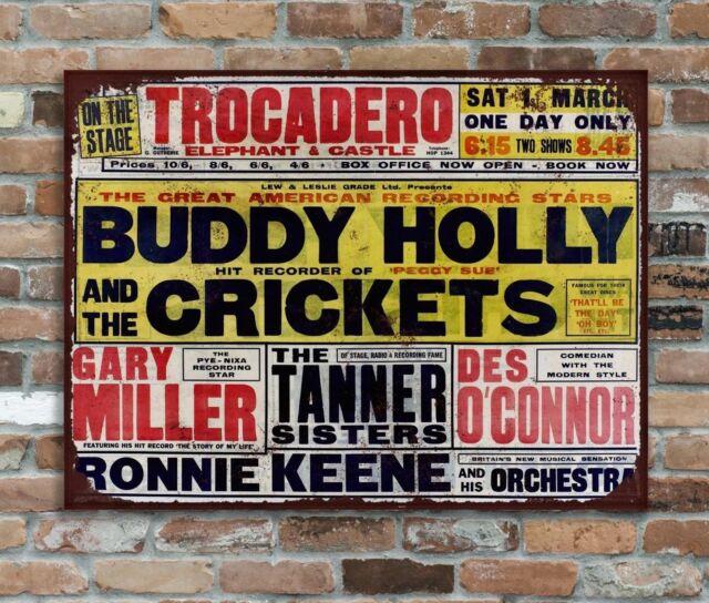 Buddy Holly Metal Wall Sign