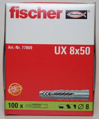 Fischer Wall Plugs UX8 Pack of 100 8mm x 50mm