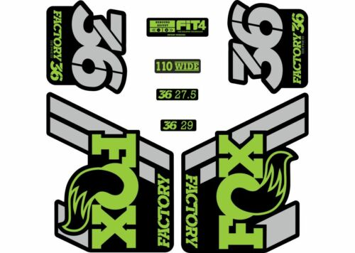 FOX 36 Float 2018-19 Forks Suspension Factory Decal Sticker Adhesive Green Gray