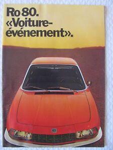 Catalogue-Brochure-prospectus-NSU-Ro80-voiture-evenement-Wankel