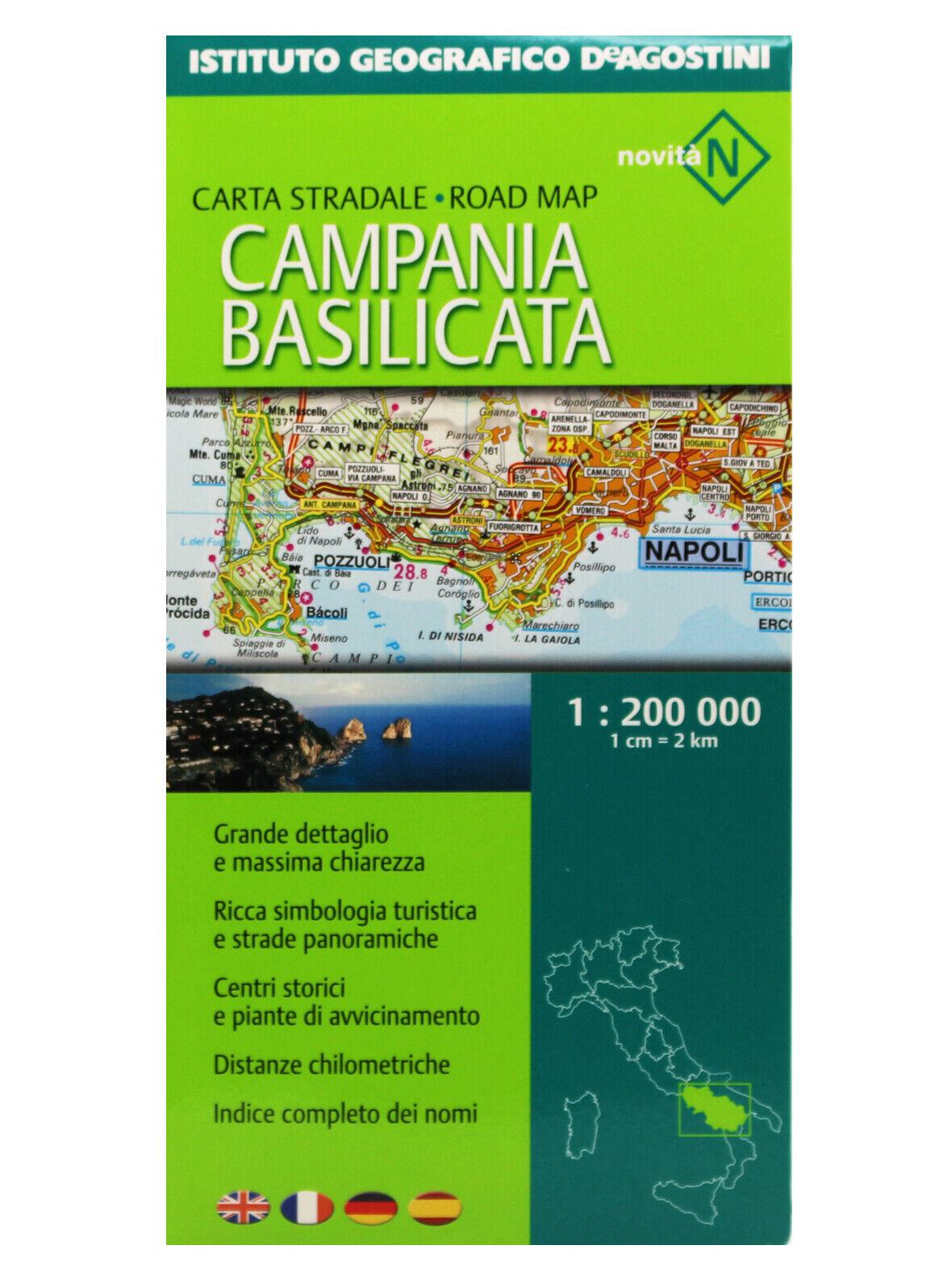 Cartina Stradale Basilicata Puglia.Dettagli Su Campania Basilicata Cartina Stradale Regionale 1 200 000 Mappa De Agostini