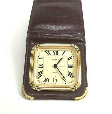 BIFORA Battery Operated Quartz Travel Alarm Clock Vintage