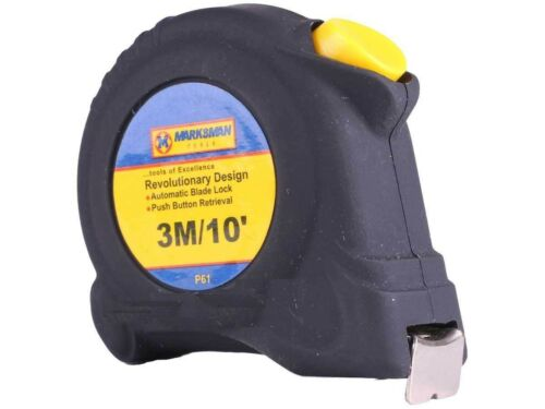 Brand New Marksman Outils Tape Measure different Lengths voiture Lock Rubberised