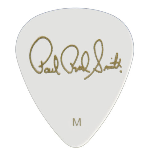 Paul Reed Smith PRS Solid White Celluloid Guitar Picks 12 Pack – Medium