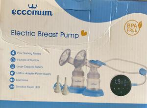 Electric Double Breast Pump Eccomum Breastfeeding Pump 4 Modes /& 9 Levels
