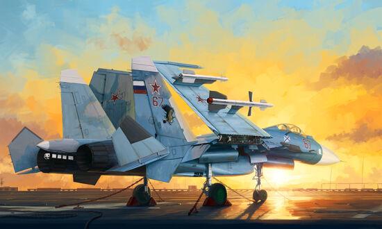 Su-33 Flanker D 1 72 Trumpeter