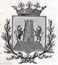 Stemma di Bassano del Grappa. Vicenza. Veneto. Stampa Antica + Passepartout.1903