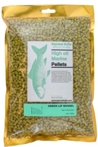Green lip mussel marine feed pellets for carp /& coarse fishing 5mm