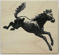 100 Proof Press Bucking Horse Rubber Stamp Farm Animal