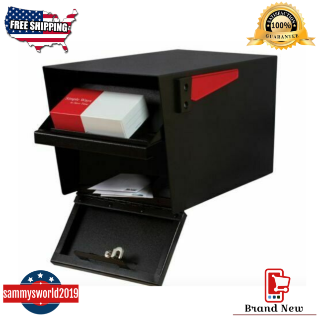 Solar Group E1600B00 Large Heavy Duty Rural Mailbox in Black