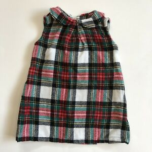 d37d927b1 Carters Baby Girl Red Green Plaid Holiday Christmas Jumper Dress ...