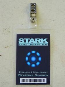 Image Is Loading HALLOWEEN COSTUME MOVIE PROP ID Security Badges STARK