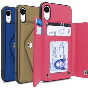 pretty nice 3faf2 18136 Details about CoverON Pocket Pouch Series Apple iPhone XR / 10R Wallet Case  Fabric Phone Cover