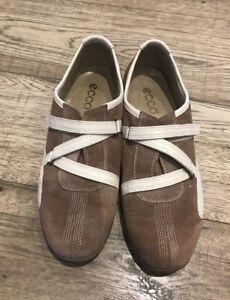 Ecco-Ladies-Tan-Suede-Shoes-Size-4