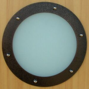 PORTHOLE-FOR-DOORS-STAINLESS-STEEL-OLD-COPPER-phi- & PORTHOLE FOR DOORS STAINLESS STEEL OLD COPPER phi 230 mm flat | eBay