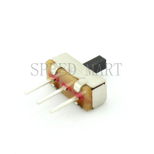 100 pcs SS12D00G3 2 Position SPDT 1P2T 3 Pin PCB Panel Vertical Slide Switch New