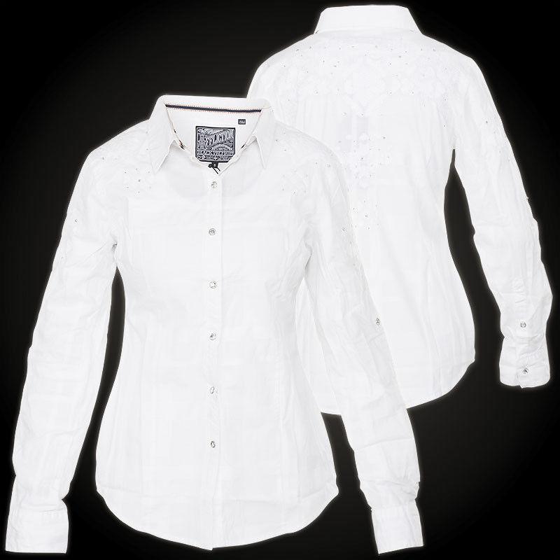 AFFLICTION Damen Hemd Radiant Weiß