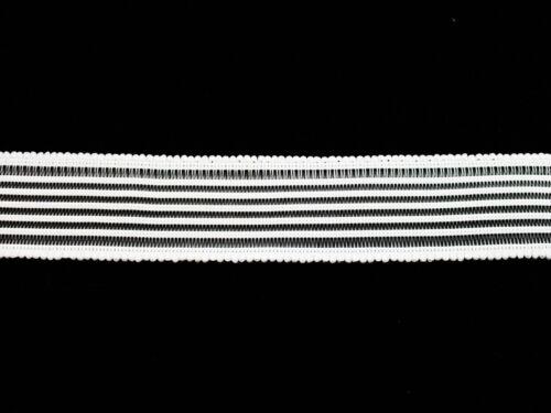 0,75 €//m cinta elástica 25mm 2m rejilla goma blanqueo de goma gummilitze