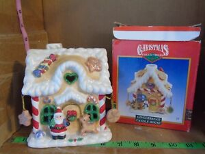 CHRISTMAS-COLLECTIBLES-GINGERBREAD-CANDLE-HOUSE