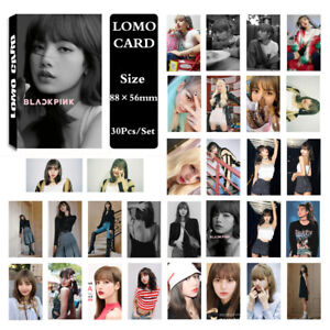1Set-KPOP-BLACKPINK-LISA-Album-Photo-Card-Lomo-Card-Poster-Photocard