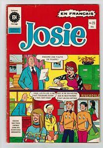 FRENCH COMIC FRANÇAIS EDITION  HERITAGE  JOSIE  # 23  FAMILLE  ARCHIE