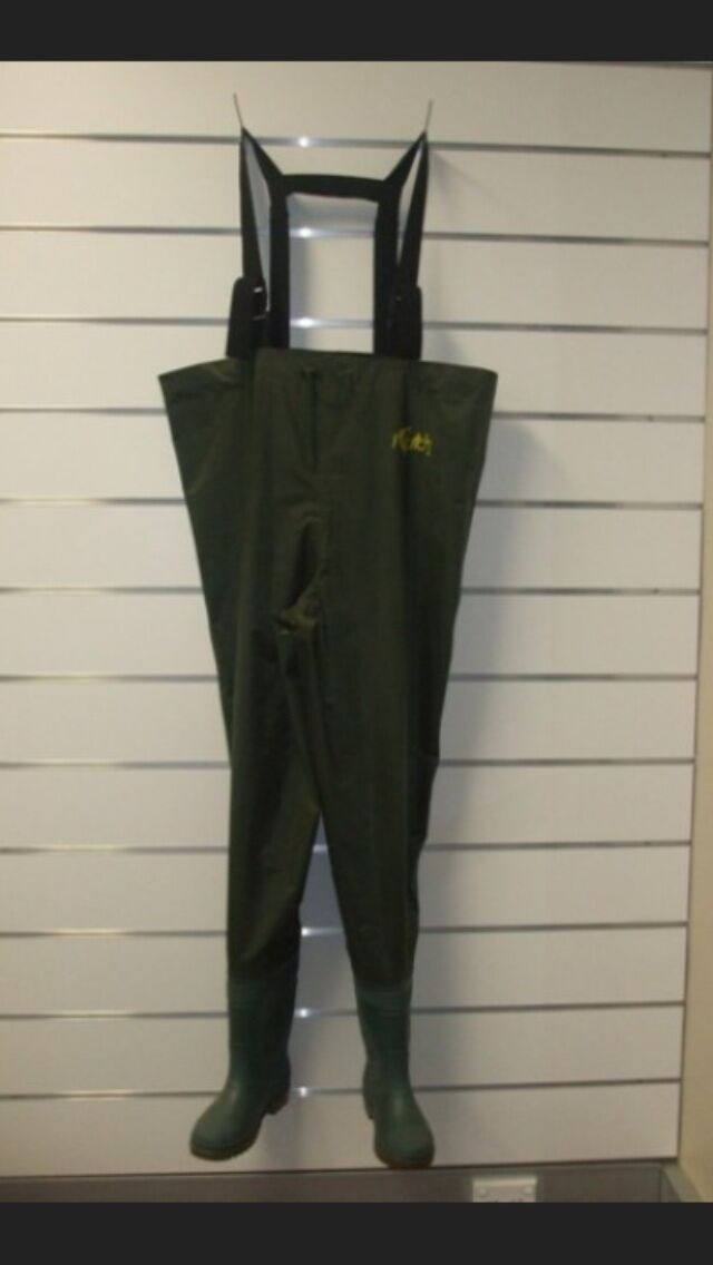 Delux Fishing Waders Mixed Größes + Knee pads + Int lining + FREE Headtorch