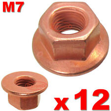 BMW E36 E46 3 SERIES EXHAUST MANIFOLD NUTS HEAD STUD LOCK NUT M7 HEX COPPER