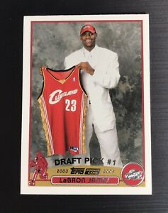 2003-04-Topps-221-LeBRON-JAMES-ROOKIE-RC-Lakers-Basketball-Card-MINT