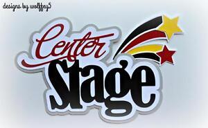 CRAFTECAFE-MUSIC-DANCE-TITLE-paper-piecing-premade-scrapbook-diecut-piece-page