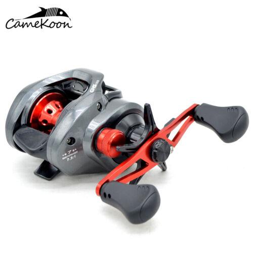 CAMEKOON Baitcasting Fishing Reel 7.3:1 Gear Ratio 7 Ball Bearings Baitcast Reel