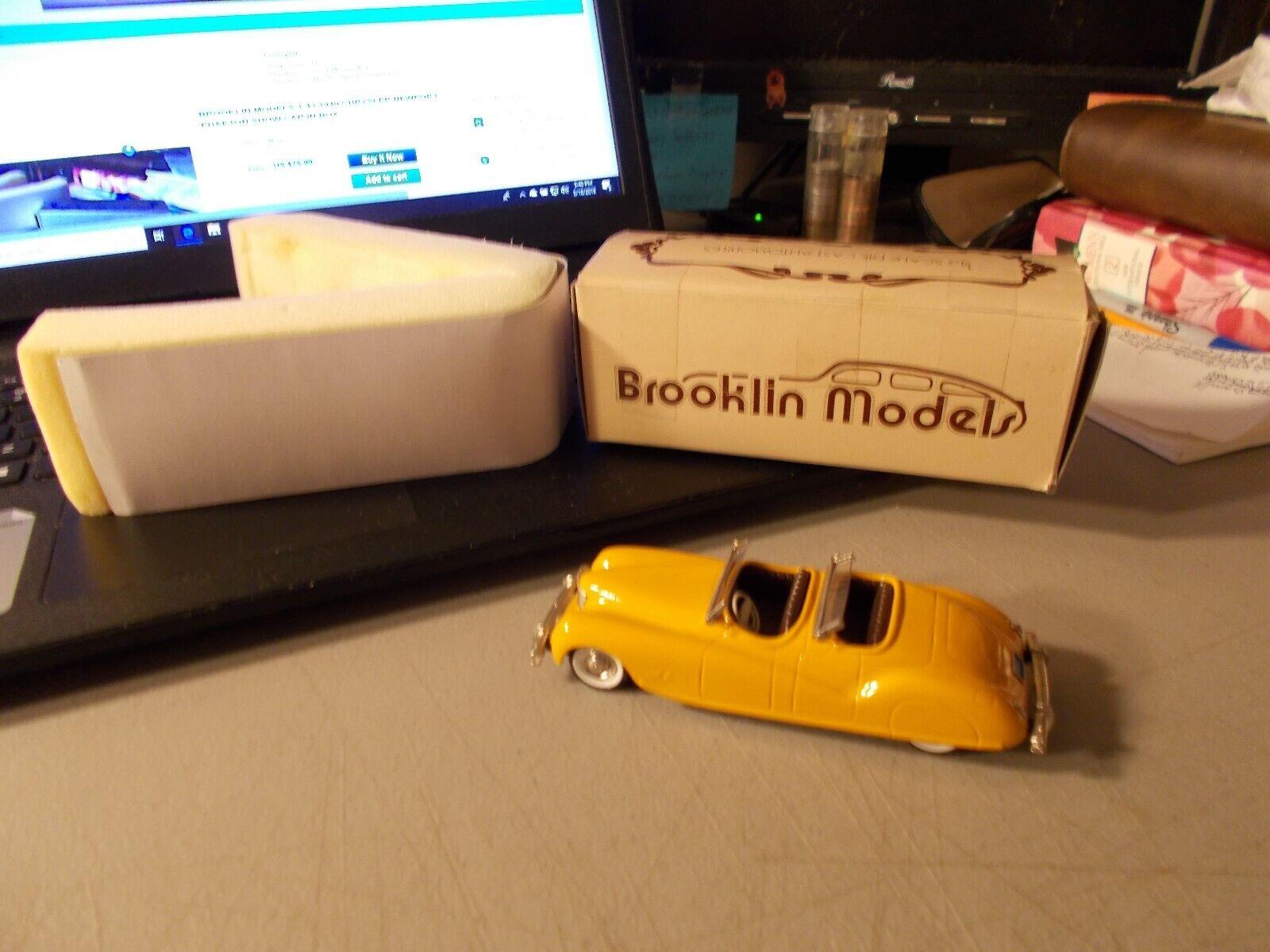 Brooklin modelos 1 43 1940 Chrysler Newport Phaeton Mostrar Coche giallo arancia En Caja