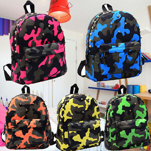 d61010814f6 Image is loading Fashion-Trendy-Kids-Backpack-Casual-Travel -Rucksack-Bookbag-