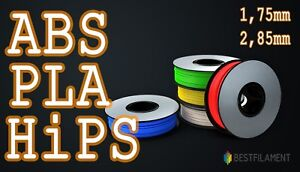 ABS PLA HiPS Filament 1,75 mm / 2,85 mm 1Kg RepRap Ultimaker Makerbot Zortrax