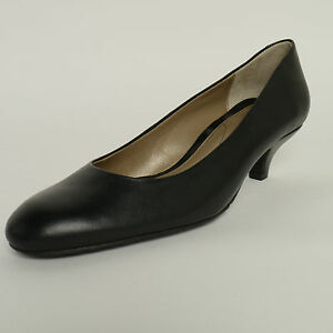 57479131a1 Van Dal Exeter Black Leather Court Shoes E/EE Wide Fitting New £40 ...