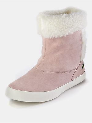 new LACOSTE JUNIOR GIRLS TRENTHAM PINK SUEDE BOOTS all sizes RRP £60.00