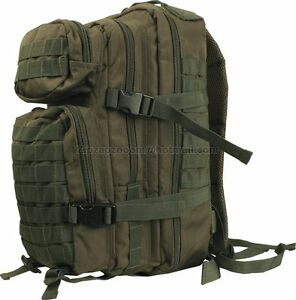 British Army Day Pack Sack Combat Rucksack Bergen Molle Green New 28 Litre L