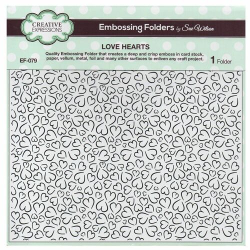 "CREATIVE EXPRESSIONS Selections of 8/""X8/"" Embossing Folder by Sue Wilson"