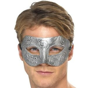 Mens-Masquerade-Ball-Fancy-Dress-Eye-Mask-Eyemask-Metallic-Look-Warrior-Smiffys