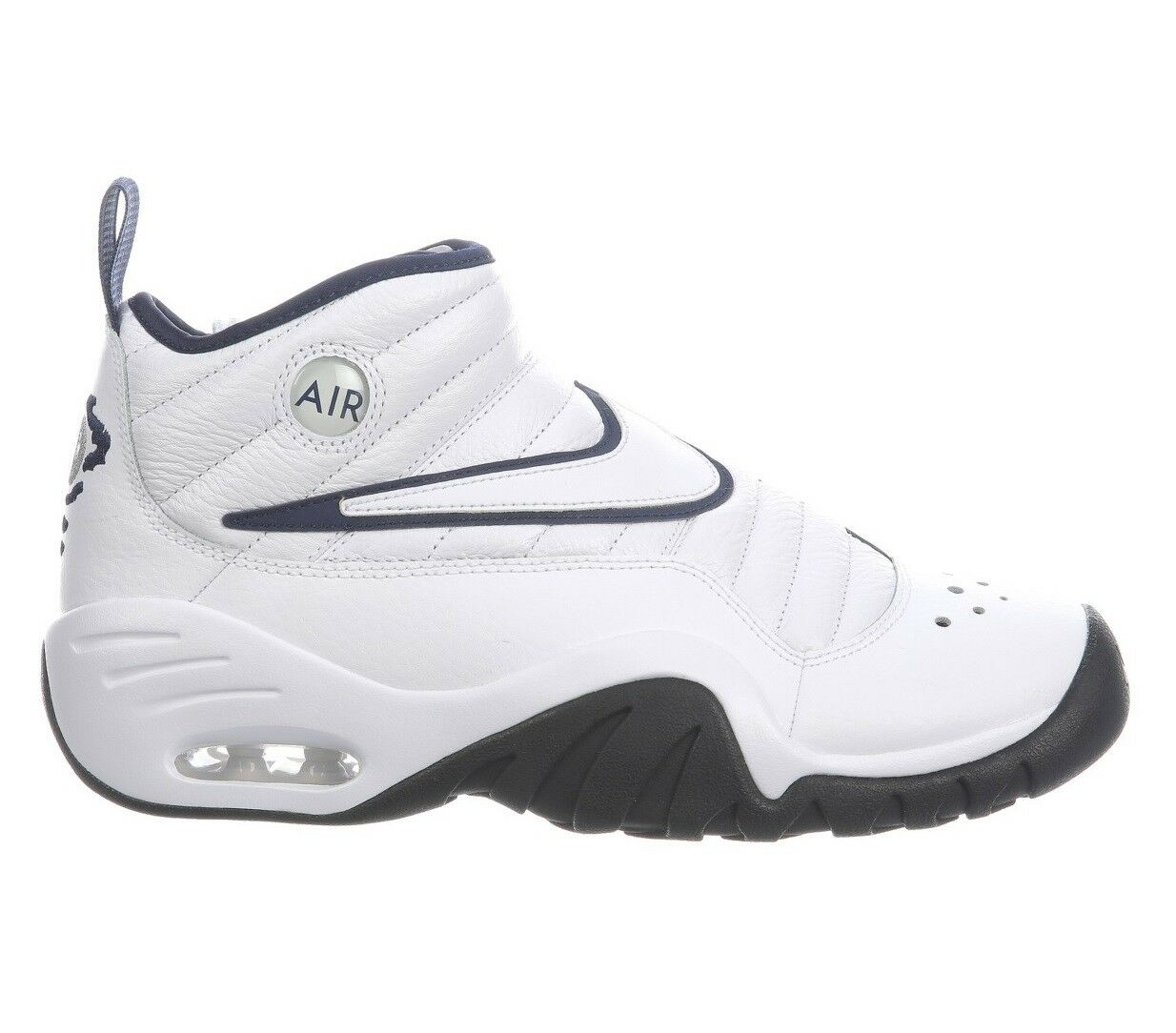 Nike Air Shake Ndestrukt Mens 880869-102 White Navy Basketball Shoes Size 7.5