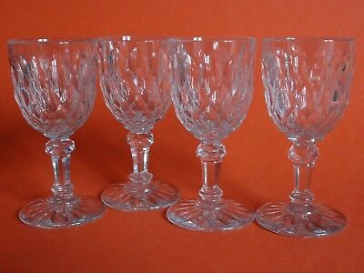 Ijverig 4 Anciens Verres A Aperitif En Cristal De Baccarat Juvisy Ht 10,5 Cm